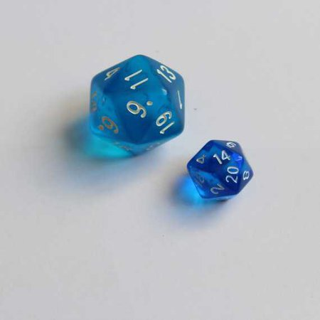 Mini Blue Curaçao mini dice set quirky dnd gift d20