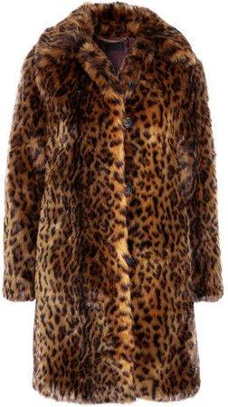 Leopard-print Faux Fur Coat - Leopard print