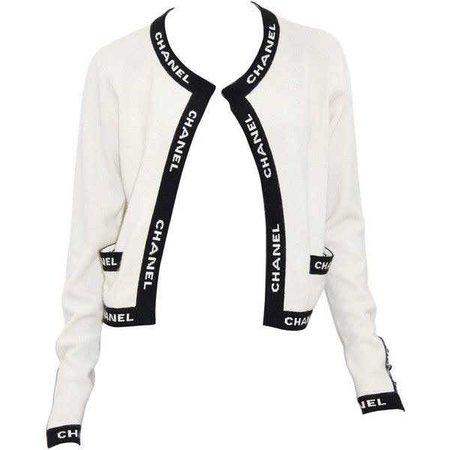 Iconic Vintage Chanel Logo Cashmere Cardigan ($1,070)