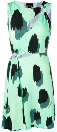 cut-out printed dress