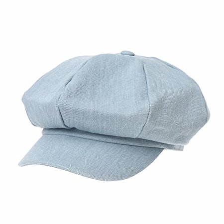 WITHMOONS Newsboy Hat Denim Jean Beret Cap Visor Peaked SL3983 (SkyBlue):Clothing & Accessories - B07BZ7V53B