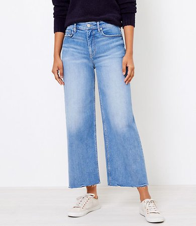 Petite Wide Leg Jeans in Light Wash