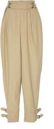 Pierce High-Waisted Cotton Pants