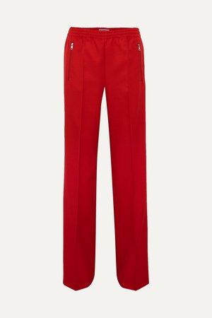 Red Gabardine track pants | Prada | NET-A-PORTER