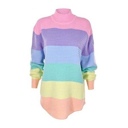 Pastel Rainbow Sweater Dress 1