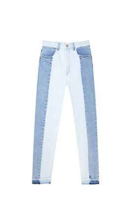 Two-tone slim fit jeans - Women's Just in | Stradivarius United States