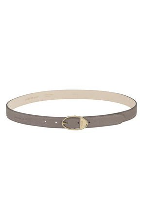 Longchamp Oval Buckle Leather Belt | Nordstrom