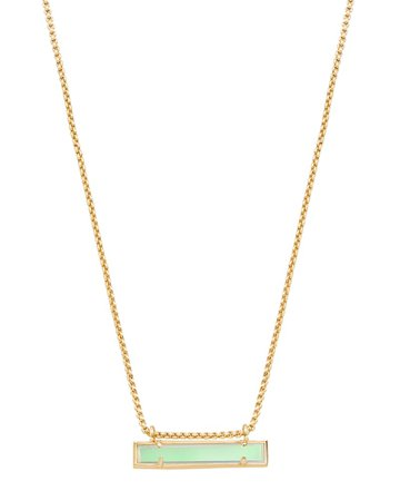 Leanor Gold Pendant Necklace in Dichroic Glass