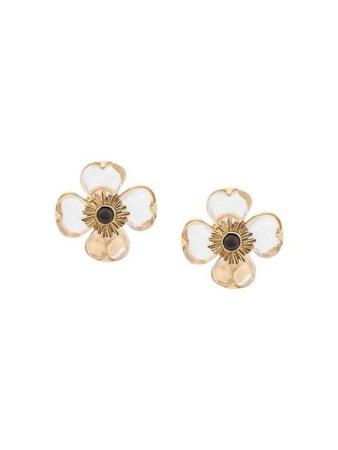 Goossens Flower Earrings GOOXXEA064 Gold   Farfetch