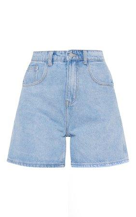 Light Blue Mom Shorts   Denim   PrettyLittleThing