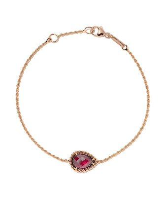 Boucheron Bracelet Serpent Bohème S En Or Rose 18ct Orné De Rhodolite - Farfetch