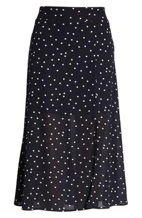 Row A Slit Front Skirt Black