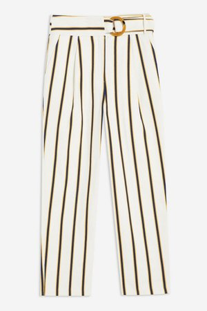 Stripe Peg Trousers | Topshop White