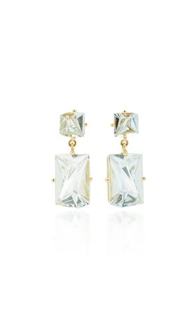 MISUI 18K Gold Aquamarine Earrings