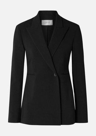 Ciel Wool-blend Crepe Blazer - Black