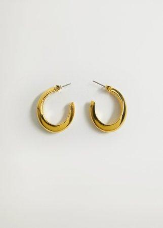 Twisted hoop earrings - Women | Mango USA