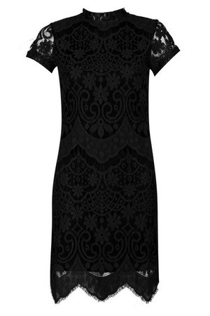 Boutique Eyelash Lace Bodycon Dress | Boohoo