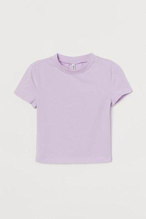 Short T-shirt - Light purple - Ladies | H&M US