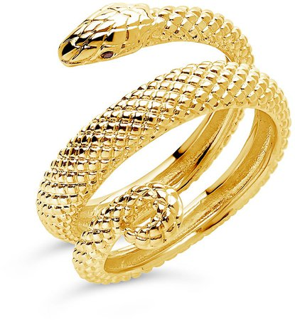 Wrapped Snake Ring