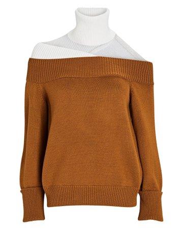 Monse Off-the-Shoulder Turtleneck Sweater | INTERMIX®