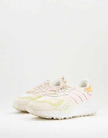 adidas Originals Choigo sneakers in beige and pink   ASOS