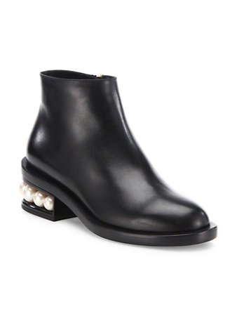 Shop Nicholas Kirkwood Casati Faux Pearl Leather Ankle Boots up to 70% Off   Saks Fifth Avenue