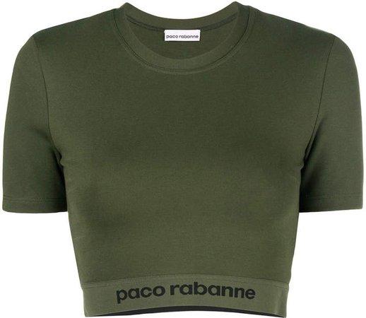 logo band print cropped T-shirt