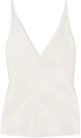 Maria Linen And Silk-blend Camisole - Ivory