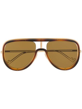 Fendi Eyewear Framed Aviator Sunglasses - Farfetch