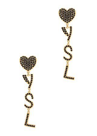 Saint Laurent Opyum logo-embellished clip-on drop earrings - Harvey Nichols