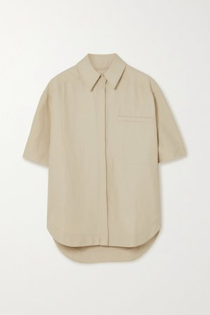Beige Moheli woven shirt | LOULOU STUDIO | NET-A-PORTER