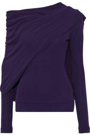 Cape-effect Stretch-knit Top
