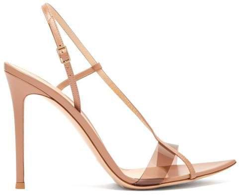Plexi Slingback Leather Heels - Womens - Nude