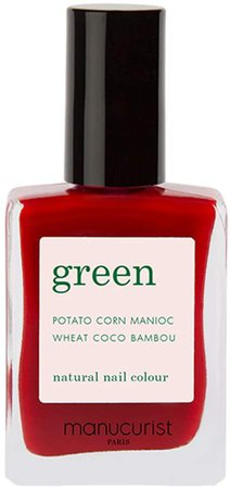 Green Nail Lacquer - Red Cherry