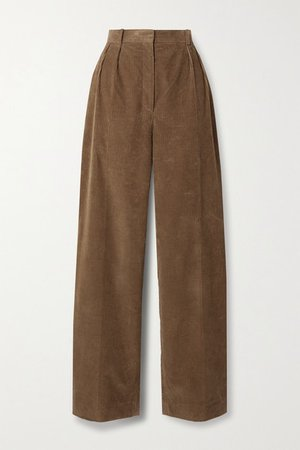 Chandler Cotton-corduroy Straight-leg Pants - Light brown
