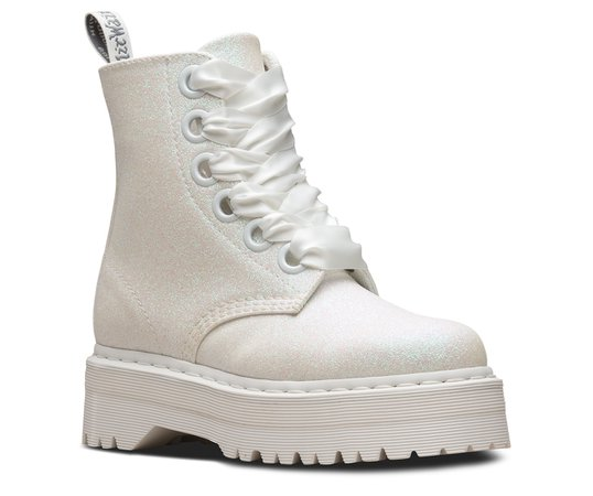 Molly Glitter | Black and White Shoes & Boots | The Official US Dr Martens Store