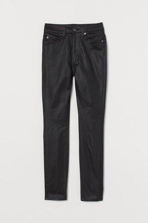 Skinny High Jeans - Black/Coating - Ladies | H&M