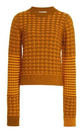 Printed Wool-Cotton Sweater By Victoria Beckham | Moda Operandi