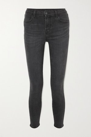 Alana Cropped High-rise Skinny Jeans - Gray