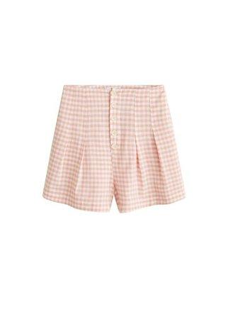 MANGO Buttoned cotton shorts