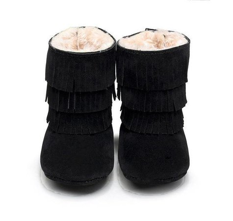 Baby Girl Winter Tassel Snow Boot Shoes – The Trendy Toddlers