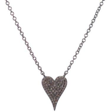 Silver Modern Heart Necklace
