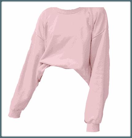 Pink Sweatshirt Top Long Sleeves