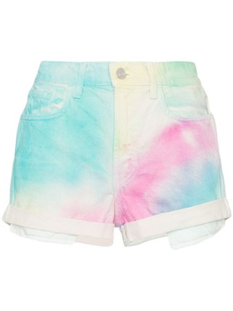 Jordache high-rise tie-dye denim shorts