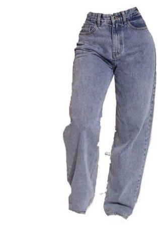 baggy light blue jeans