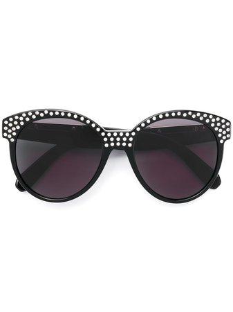 Black Philipp Plein crystal embellished sunglasses - Farfetch