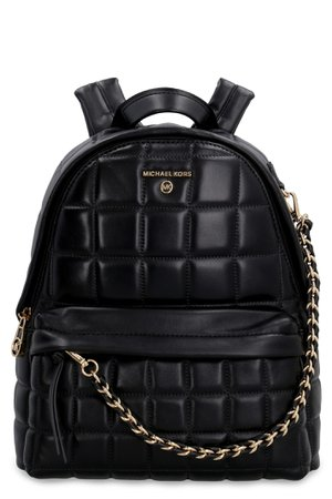 Michael Kors Slater Leather Backpack With Stitchings