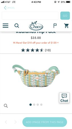 Chaco fanny pack