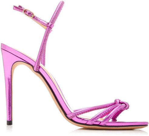 Rebecca Metallic Patent Leather Sandals