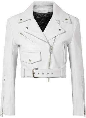 White Women's Leather Jackets - ShopStyle
